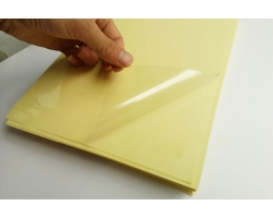 Transparent Sythentic. 60um/AS500/90 Yellow Kraft  liner (PV92Y)