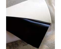 Semi-Gloss Paper/Black Adhesive/61g White Glassine